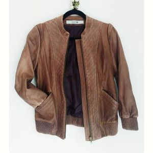 Joe's Jeans brown leather jacket XS